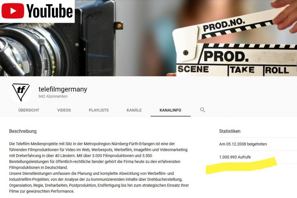 Telefilm auf YouTube