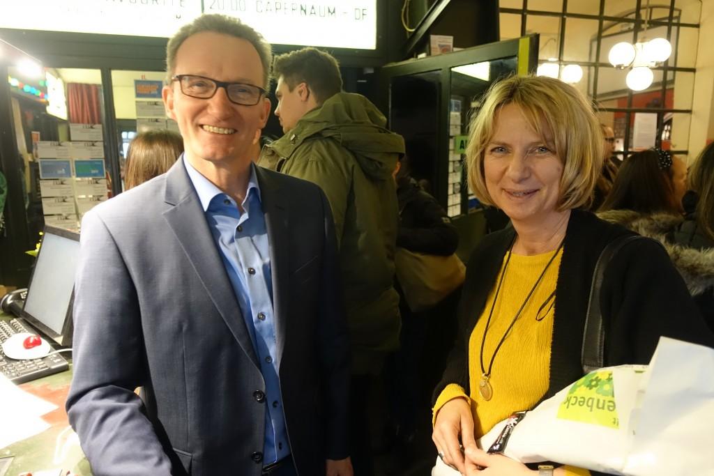 Jens Lebsuch und die Susanne Schwarztz vom Jugendamt Nürnberg im Gespräch