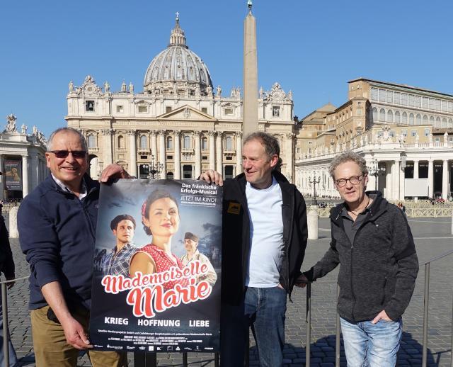 Peter Ponnath, Fritz Stiegler und Thomass Dröge in Rom (Vorstellung Mademoiselle Marie Kinofilm)