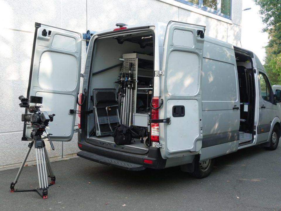 Telefilm Produktionsfahrzeug für Dreharbeiten