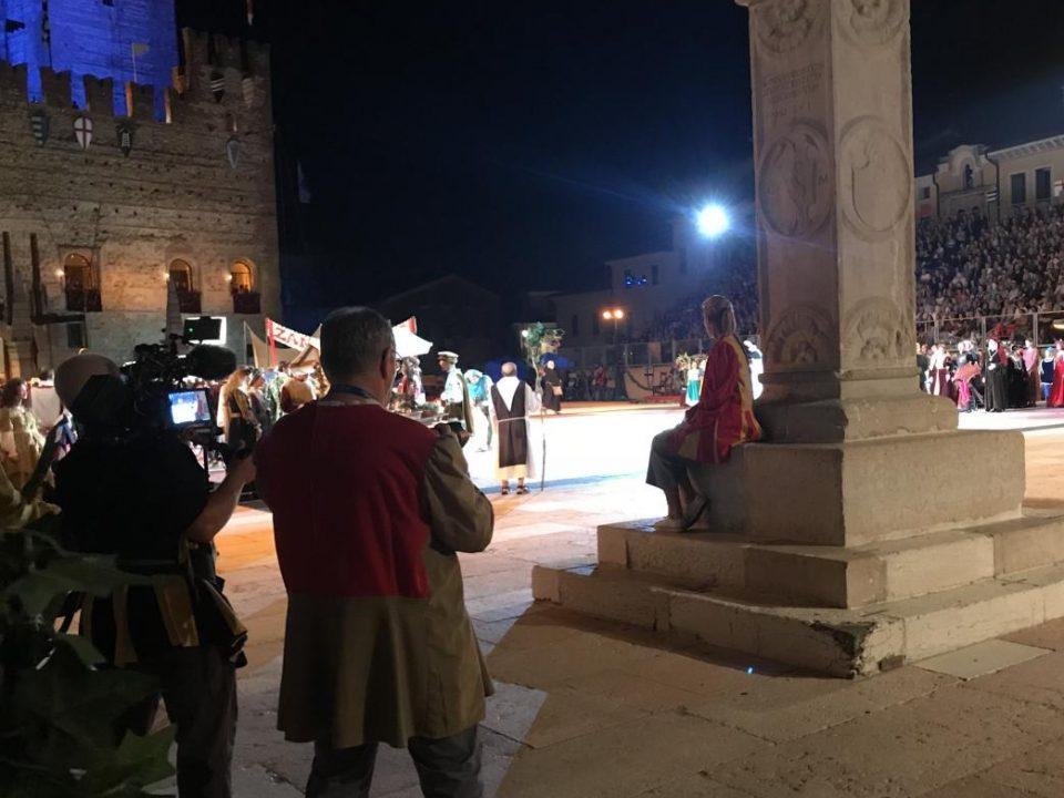 Dreharbeiten in Italien für finnisches Fernsehen