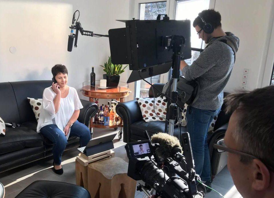 Dreharbeiten für Küchen Quelle Imagevideo