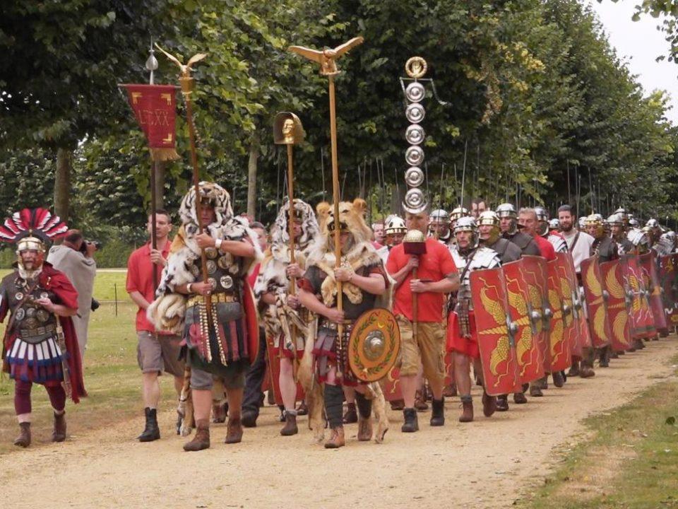 Römische Legionäre (Dreharbeiten für finnisches Fernsehen)