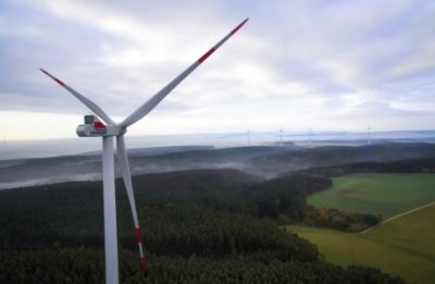 Windrad Luftaufnahme